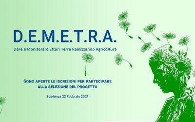 D.E.M.E.T.R.A. E' on line il bando per partecipare al progetto, scaricabile sul sito www.demetrastudiolp.it